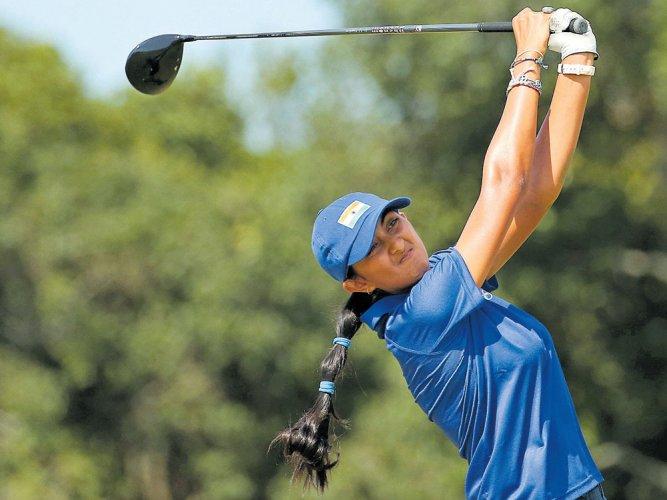 Aditi vaults to tied 13th at major ANA golf