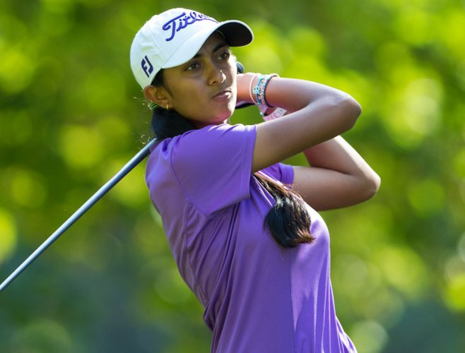 Aditi cards 4-under to jump to tied-13