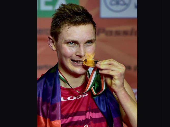 Axelsen claims India Open men's singles title