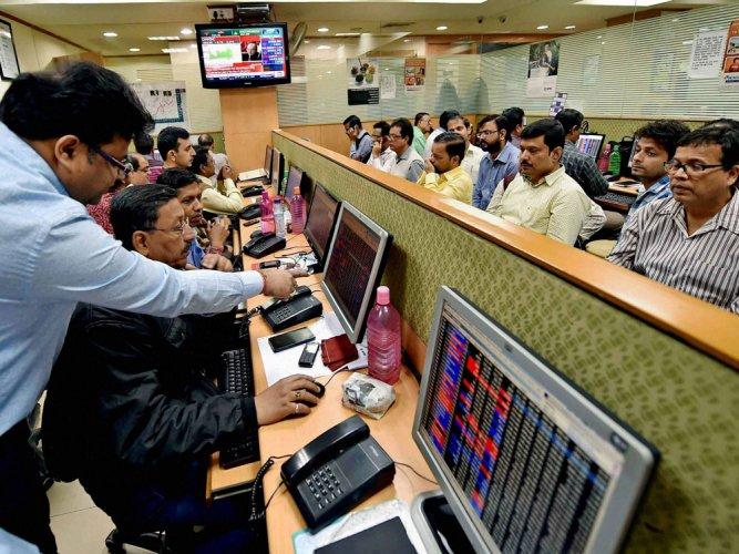 Mkts begin fiscal on high note;Sensex,Nifty log record closing