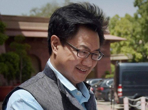 No CM ever burdened exchequer for his defence: Rijiju