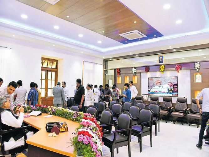 Speaker Koliwad gets a new, spacious office
