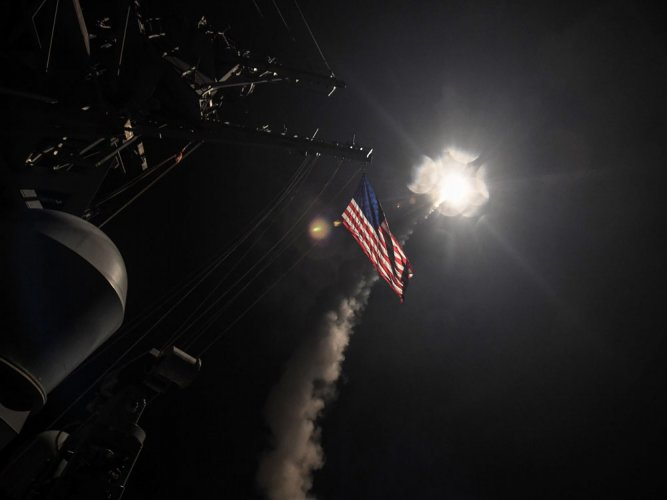 US launches missile strike in Syria after chemical attack
