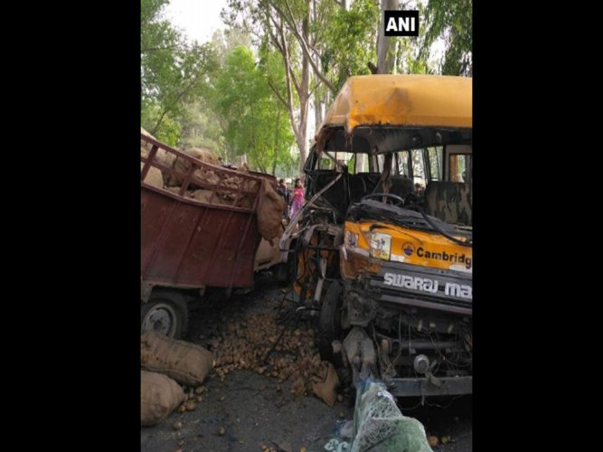 3 school students among 4 killed in road mishap
