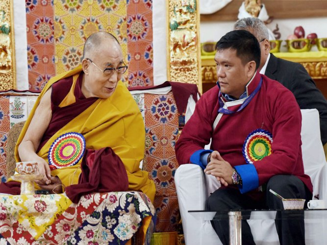 The Dalai Lama reaches Tawang