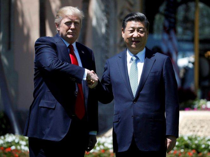 Trump presses Xi on trade, N Korea