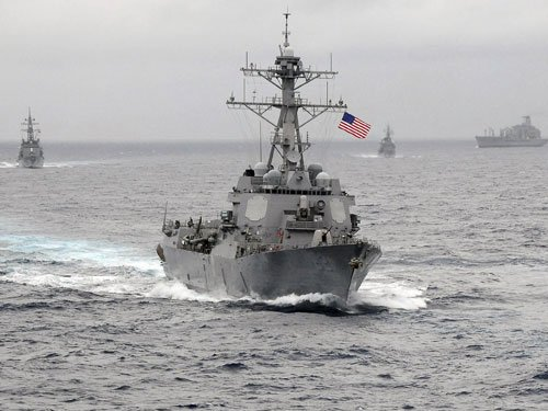US navy strike group heads toward Korean peninsula