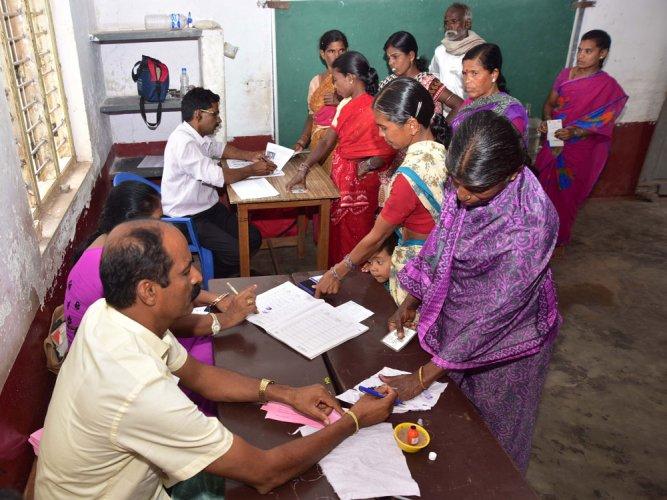 Nanjangud records good voterturnout