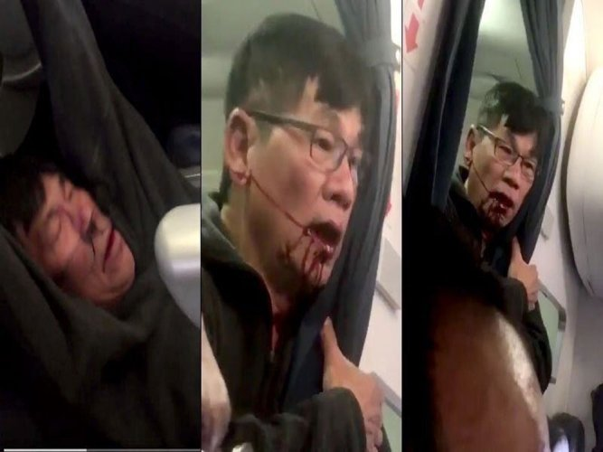 Video: Passenger dragged off overbooked United flight