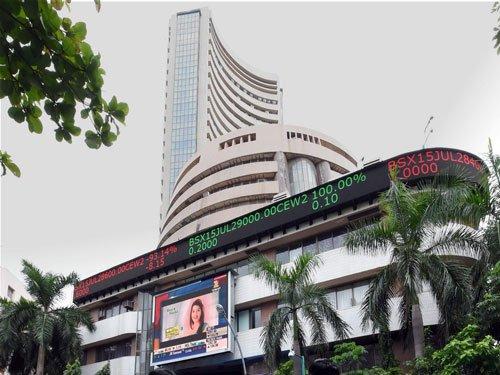 Sensex vaults 213 pts ahead of economic data, earnings