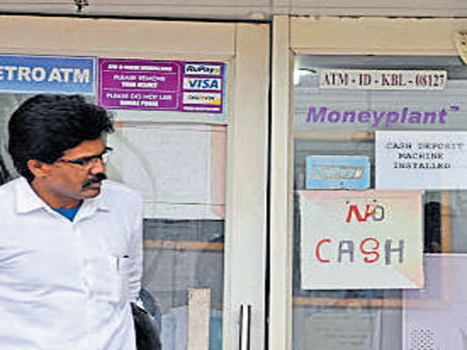 Mangaluru city ATMs out of cash, customers in trouble