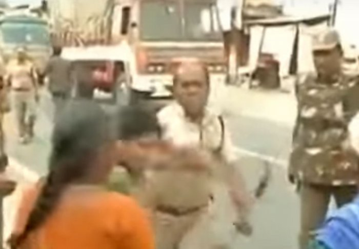 TN police brutely attacks woman even as NHRC take up the issue