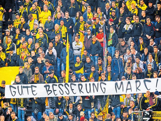 Dortmund supporters win hearts