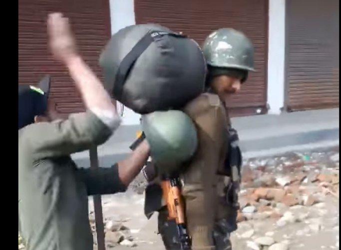 Video of youths beating CRPF jawans in J&K: FIR registered