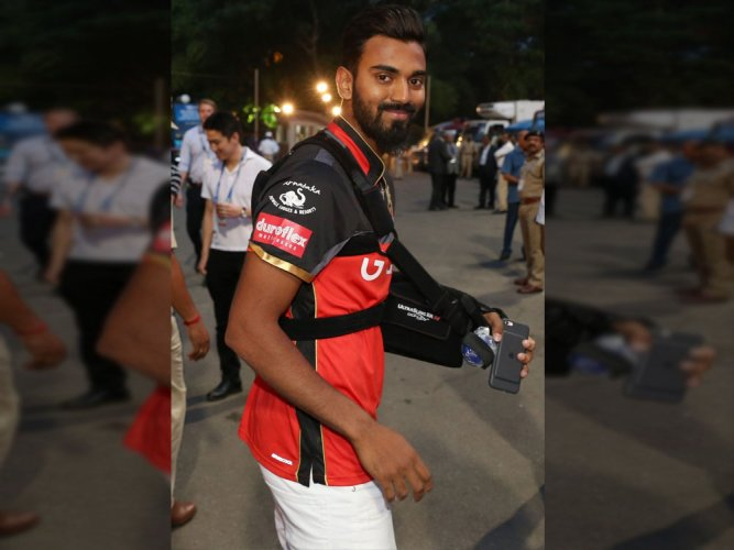 KL Rahul back in Bengaluru after surgery