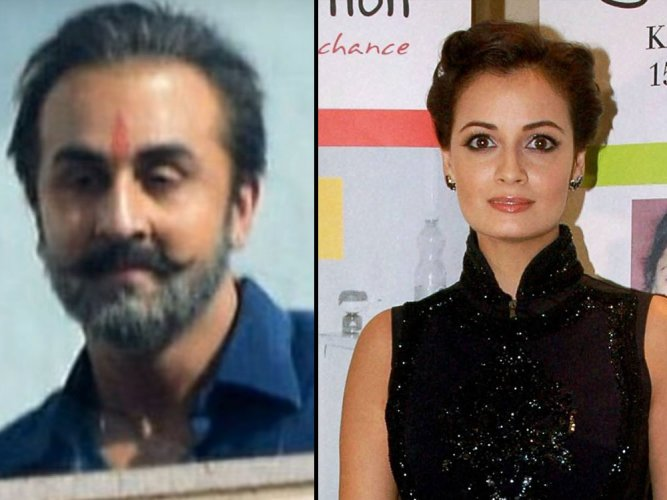 Dia upset over 'leak' of Ranbir's look from Sanjay biopic
