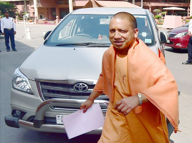 Yogi completes an eventful month in office