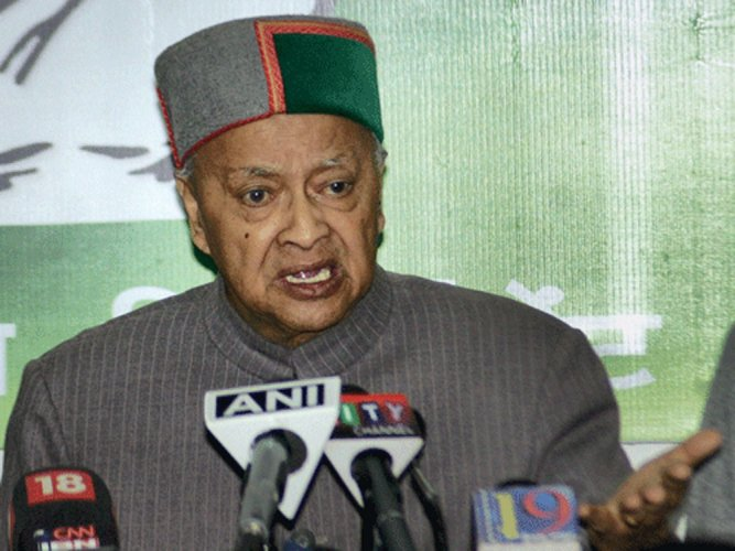 Himachal Pradesh CM Virbadhra Singh appears before ED
