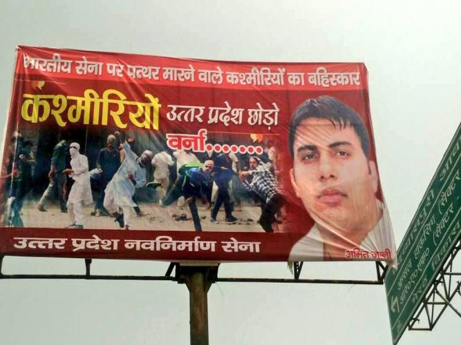Posters asking Kashmiris to leave UP appear in UP town