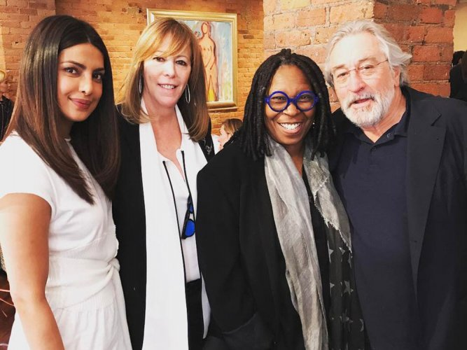 Priyanka spends afternoon with Robert De Niro, Whoopi Goldberg
