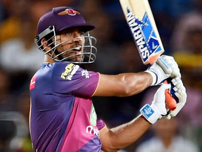 Dhoni, Tripathi's half-centuries help Pune post 6-wkt win