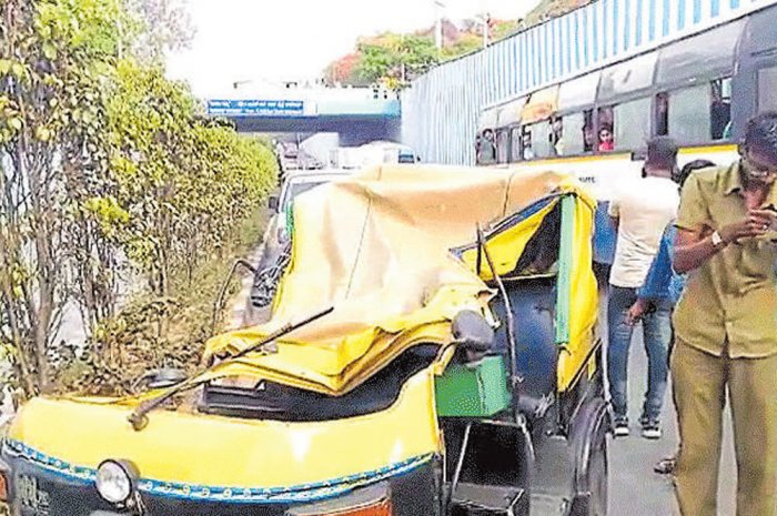 Auto driver killed in pile-up on BHEL underpass