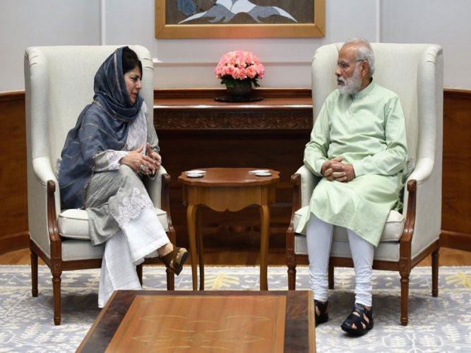 Talks only way to contain situtation in JK: Mehooba to PM