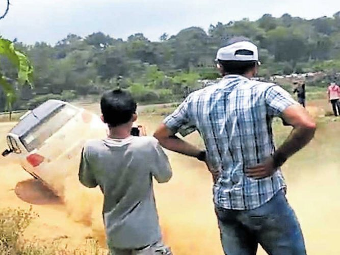 MLA's son escapes unhurt  in dirt track race accident