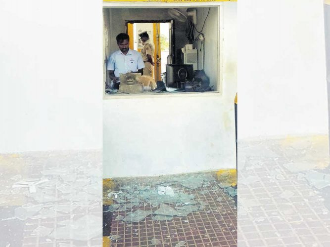 Supporters of AP MP's son ransack Bagepalli toll plaza