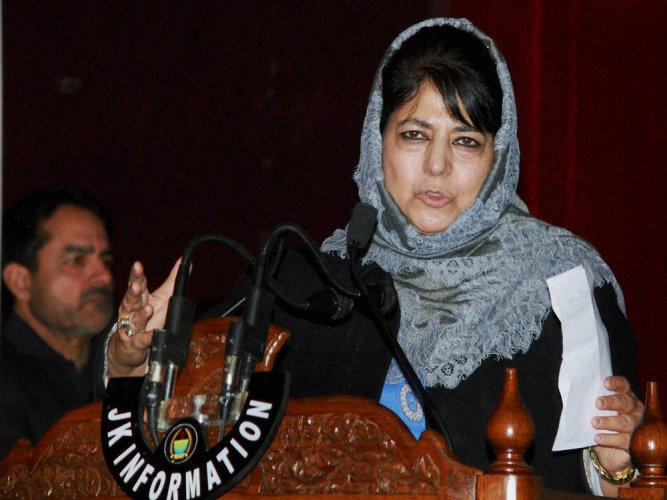 Mehbooba reviews Kashmir security situation in UHQ meet