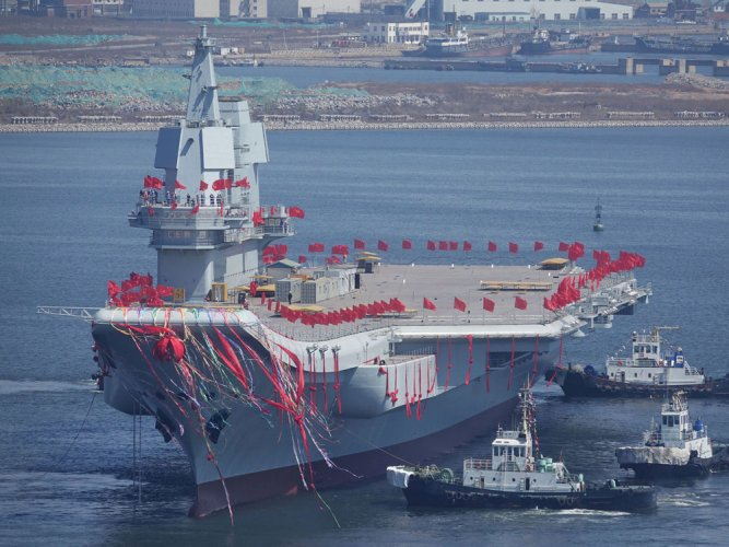 China launches new aircraft carrier amid tensions