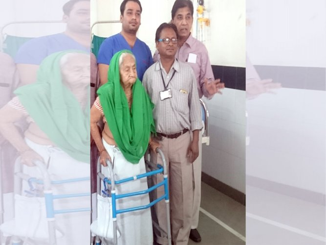 With strong will power, 101 year old Kamala Devi survives rare surgery