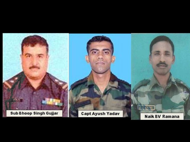 Army pays tribute to 3 personnel killed in Kupwara attack