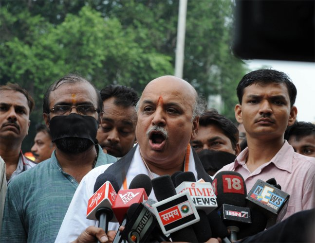 Togadia wants 'carpet bombing' of Valley to stop militants