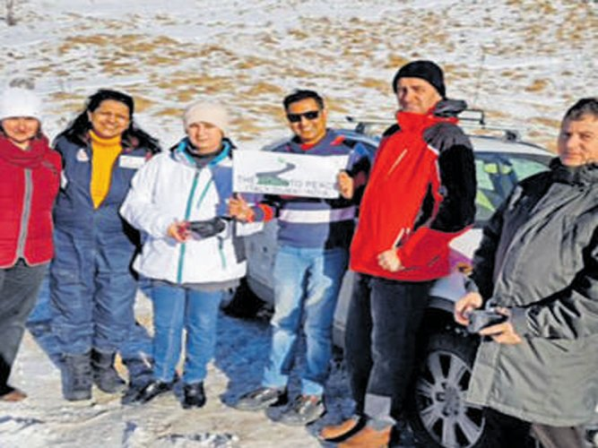 Duo recalls their 'Road to Peace' trip across 20 countries