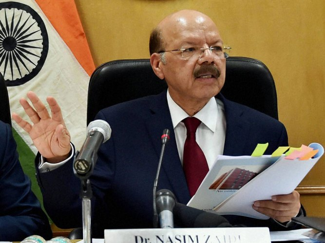 ECI to soon call all party meeting on EVM issue : Nasim Zaidi