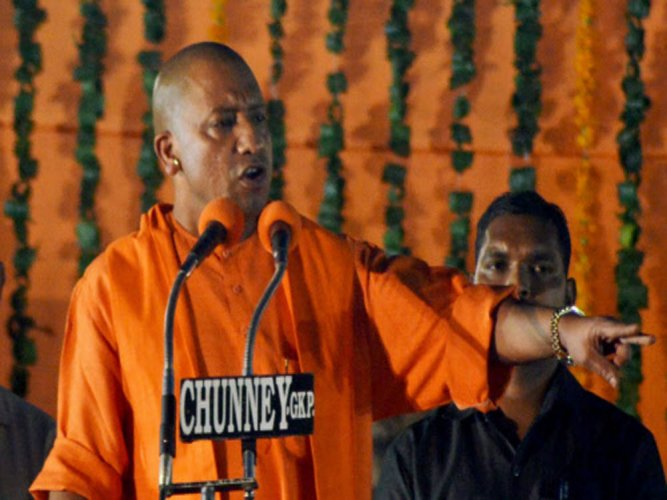 UP MLA, accused of killing wife, shares stage with Yogi