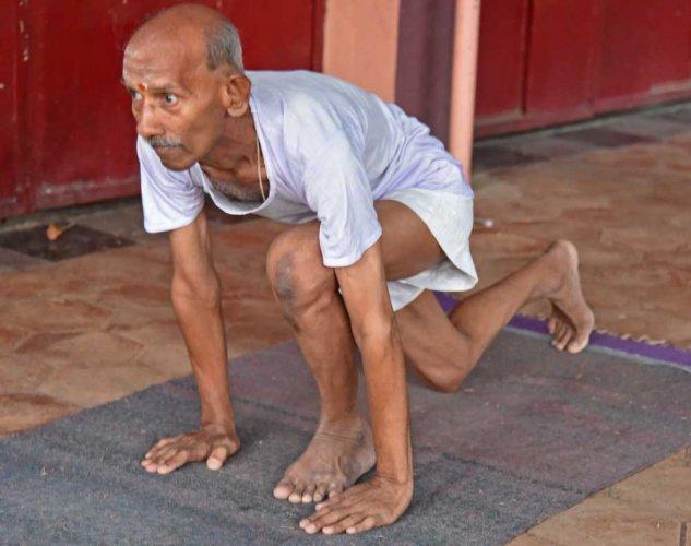 64-year-old breast cancer survivor performs 302 Surya Namaskars