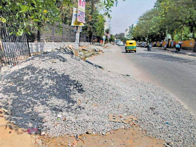 People's problems- Debris dumped on road
