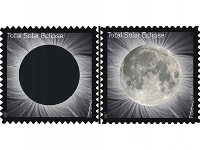Colour-changing stamp to mark rare solar eclipse event in US