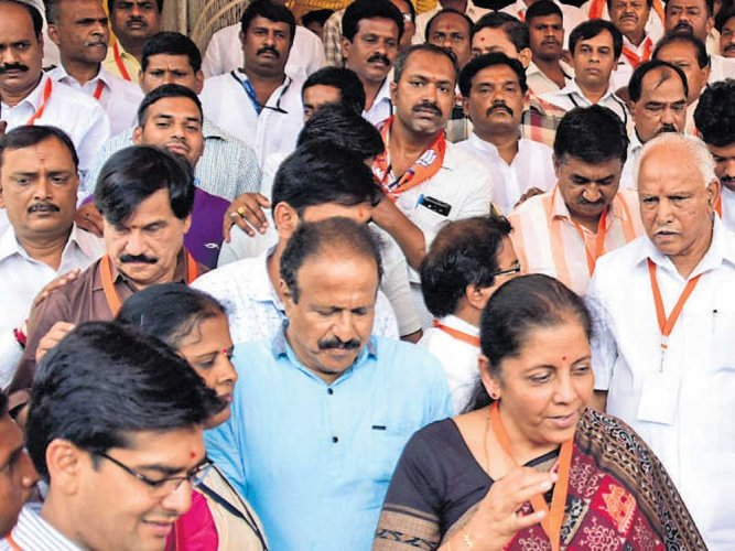 BJP state executive meeting ends, but rift continues
