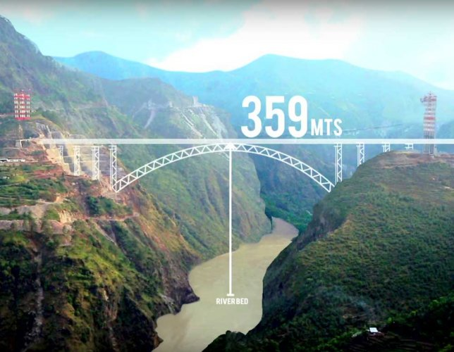 Bungee jumping from Chenab rail bridge in the offing