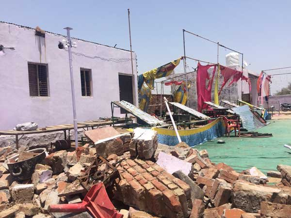 Wall collapse: Raj govt orders inquiry,case against hall owner