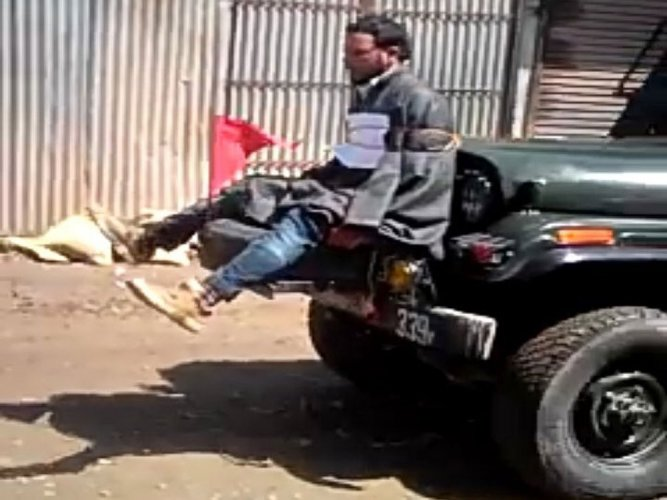 Army gives clean chit to officer who tied civilian to jeep