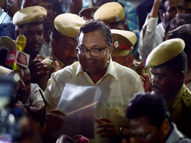 Karti Chidambaram left for London soon after CBI raids at his residence