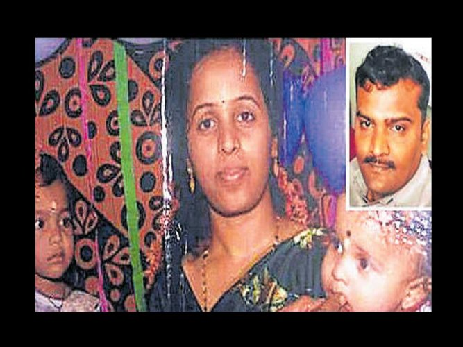 Constable battles for life after poisoning wife & kids to death