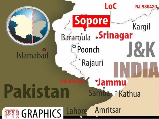 Two militants killed in Sopore encounter