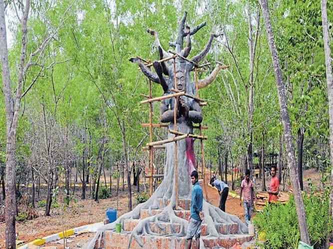 Unique tree park coming up at Badagabettu