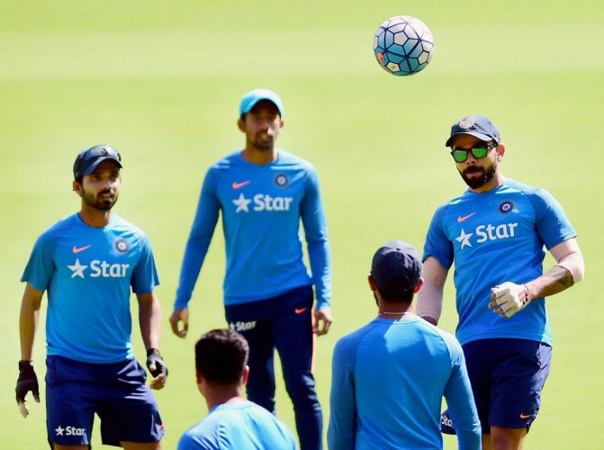 Rain forces Indians to train indoors