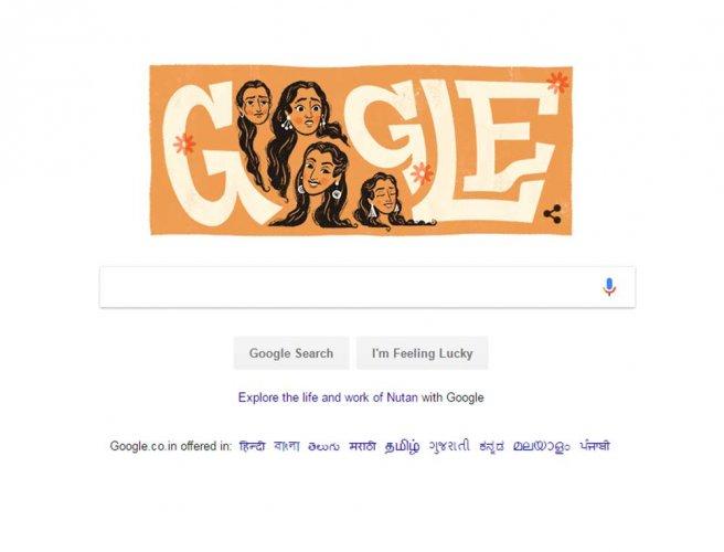 Google doodle celebrates Nutan's birthday